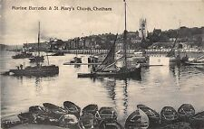 POSTCARD    KENT   CHATHAM   Marine  Barracks &  St  Mary's  Church