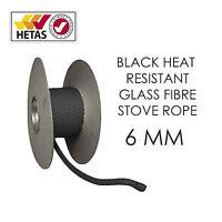 Black Heat Resistant Stove/Fire Rope For Woodburner/Log Burner Doors& Flue Seal