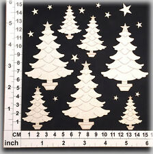 Chipboard Embellishments for Scrapbooking, Cardmaking - Christmas Trees 65143w