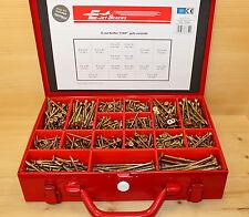 E-Jet® Spanplattenschrauben Sortiment im Stahlkoffer 1253 Teile TTAP®