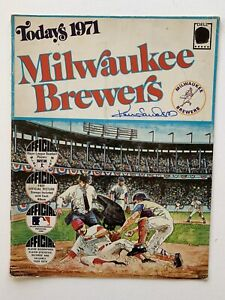 Todays 1971 Milwaukee Brewers Album and Stamps Signed By Ken Sanders.