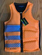 O'Brien Team Front Zip Black Orange water ski vest lifejacket Mens Large NWT