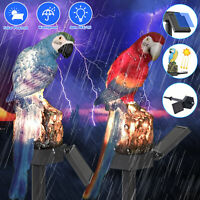 Waterproof Solar Power LED Light Garden Yard Lawn Parrot Landscape Ornament Lamp