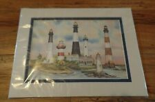 Mark Sherman Harbour Lights Sentinels of the South Print