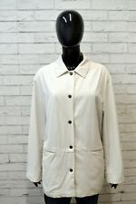 Trench BURBERRY Giacca Donna Taglia Size 42 Cappotto Bianco Jacket Woman