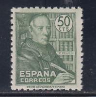 SPAIN (1947) MNH NUEVO SIN FIJASELLOS ESPAÑA - EDIFIL 1011 PADRE BENITO FEIJOO