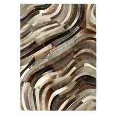vidaXL Teppich echtes Kuhfell Patchwork 160×230cm Grau/silbern (134403)