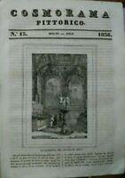 1836 COSMORAMA PITTORICO: DUOMO DI SIENA; GROTTA DI POSILLIPO; LA LUNA