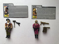 GI Joe 1987 Zanzibar v1 & 1988 Voltar v1 Hasbro Action Figure Near Complete