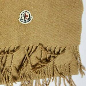 MONCLER 100% PURE CASHMERE SCARF SHAWL CAMEL BEIGE 689