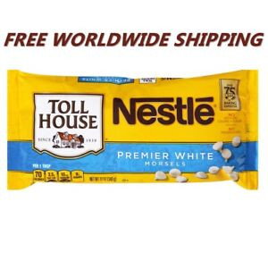 Nestle Toll House Premier White Chocolate Morsels 12 Oz FREE WORLDWIDE SHIPPING