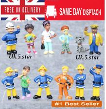 12Pcs/Set Fun Fireman Sam PVC Action Figures Cartoon Doll Kids Toy Gift UK new