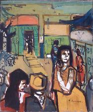 Michel BONNAUD (1934-2008) HsT Années 60 Figuration narrative Avignon Fauviste