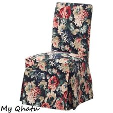Ikea Henriksdal Chair Cover Long White Lingbo Multicolor Floral  004.379.21 NEW