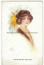 Glamour Artist Aubrey De Vere 'You're The Only Only Girl' Vintage Postcard 17.2