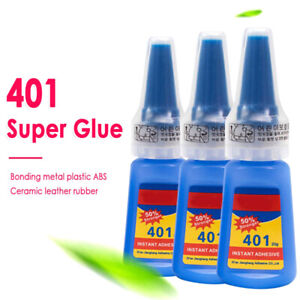20ml Liquid Super Glue 401 Instant Strong Glue Bond Leather DIY Adhesive Gel