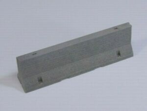 1/24-1/25 Scale Jersey Barrier for RC, Model Car, Diorama, Race Track, Road