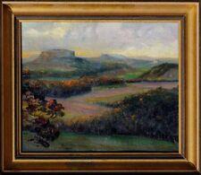 Blick vom Elbsandsteingebirge ins Elbtal bei Dresden signiert, datiert 1918 xxxx