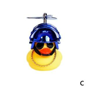 Rubber Duck Toy Bike Motor Car Ornaments Yellow Duck Car Dashboard Decorat 7Y6T