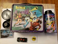 Vintage Batman and Robin lunchbox +Thermos,batmobile and more.