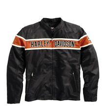 Harley-Davidson Generations Jacket * Gr. XL - Textil Nylon Jacke schwarz orange