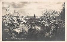 Crossen (Oder) Kirche, See, Frühlingsschmuck Postkarte 1930
