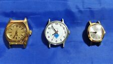 LOT OF 3 USED WOMEN'S MECHANICAL VINTAGE TIMEX WRISTWATCHES