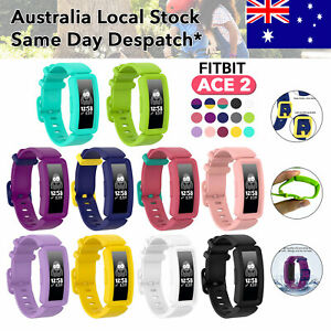 Fitbit Inspire Ace 2 Kids Anti-Lost Silicon Replacement Waist Watch Band Strap