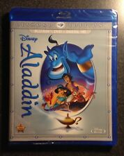 Disney ALADDIN Blu-Ray DVD Digital HD Copy Diamond Edition. New OOP Vault Rare!