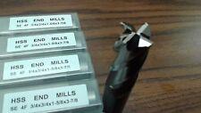 "10pcs 3/4"" 4 Flute S/E Premium M2 HSS end mills,center-cutting#1009H-New"