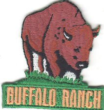 """BUFFALO RANCH"" PATCH- Iron On  Embroidered Applique, Southwest, Western"