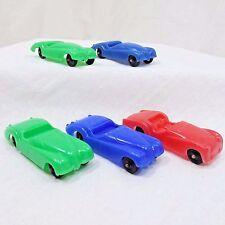 TootsieToy Car Vintage Toy Lot Of 5 Plastic Triumph Jaguar Convertible