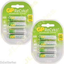 8 x Pilas Aaa Gp Recargable 800 Mah Recyko Baterías 800mah (2 x 4 Packs)