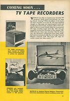 1961 TV Tape Recorders Syracuse University Designs Mid Century Modern Futuristic