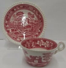 Spode Tower Pink (Older) Cup & Saucer Set MODERATE USE More Items Available