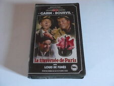 LA TRAVERSEE DE PARIS GABIN / BOURVIL / DE FUNES K7VIDEO RENE CHATEAU RARE