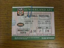 04/08/1995 Ticket: Sunderland Football Festival Final, Sunderland Juniors v Slov
