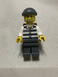 Lego ® Minifigure City Prisoner Inmate 50380 Gold Tooth 3658 cty040 cty0040