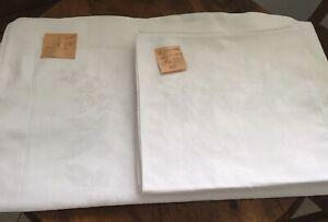 TISCHDECKE 210 X 120 cm  + 6 SERVIETTEN passend 50 x 50 cm Weiß - alt