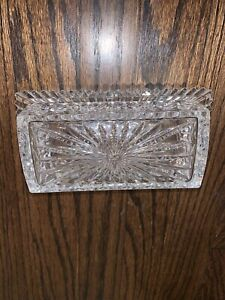 Vintage Waterford Crystal, Araglin 1/4 Pound Covered Butter Dish