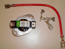 High-limit Thermostat (279816) and connection hardware for Whirlpool dryer
