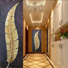 HH#101 House decoration art Hand-painted oil painting Banana leaf No Frame 50in