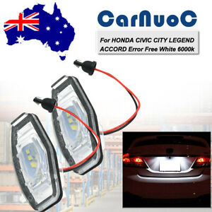 Fit For Honda Civic 7th 8th 9th Gen Car White Led License Plate Lights Lamps