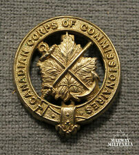 Canadian Corps of Commissionaires OFFICERS Cap Badge (Inv 24354)