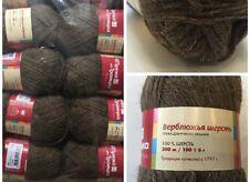 100%Natural Camel Wool Yarn Eco Series Knitting Crochet Huge Lot 8sks 800g/27oz