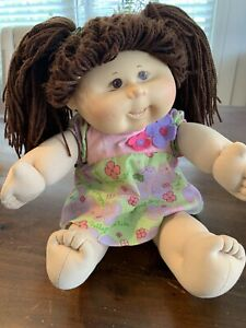 "Cabbage Patch Doll 18"" Asian Girl W TEETH Brown Hair 2004 Play Along RARE"