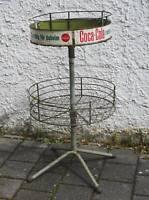 Rarität Vintage original Coca Cola Werbeständer Display Etagen Rondell Metall