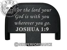 Rear Slide Plate for Smith Wesson S&W SD9 SD40 VE 9mm 40 BK Bible Joshua 1:9