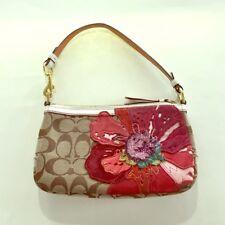 75% off Coach Poppy signature fabric flower purse