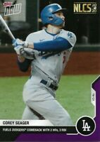 2020 TOPPS NOW #430 COREY SEAGER LA DODGERS (ON-HAND) PURPLE PARALLEL/25
